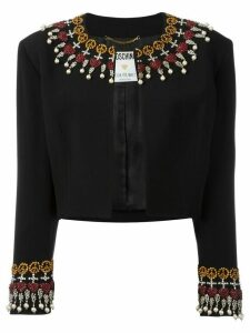 Moschino Pre-Owned embellished cropped jacket - Black
