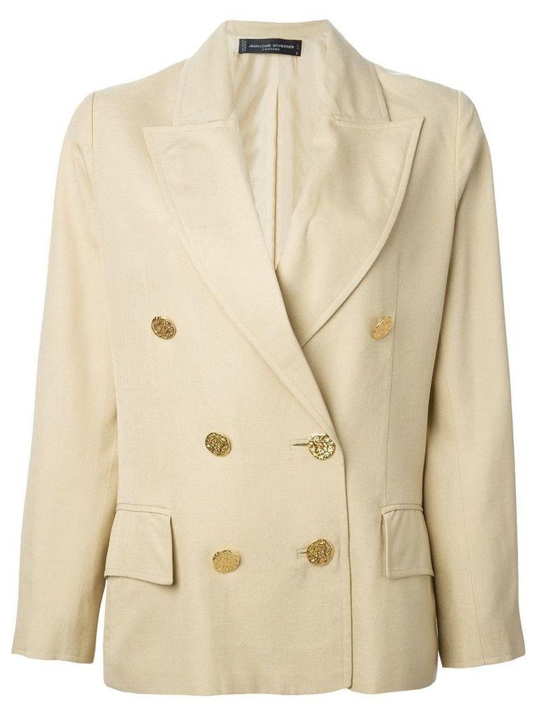 Jean Louis Scherrer Vintage cropped blazer - Neutrals