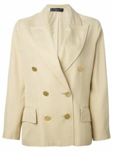 Jean Louis Scherrer Pre-Owned cropped blazer - Neutrals