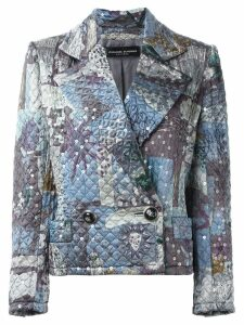 Jean Louis Scherrer Pre-Owned sequin quilted jacket - Grey