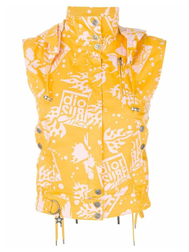 Christian Dior Vintage surfer-style waistcoat - Yellow