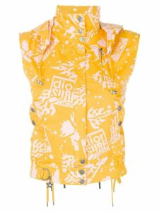 CHRISTIAN DIOR PRE-OWNED surfer-style waistcoat - Yellow
