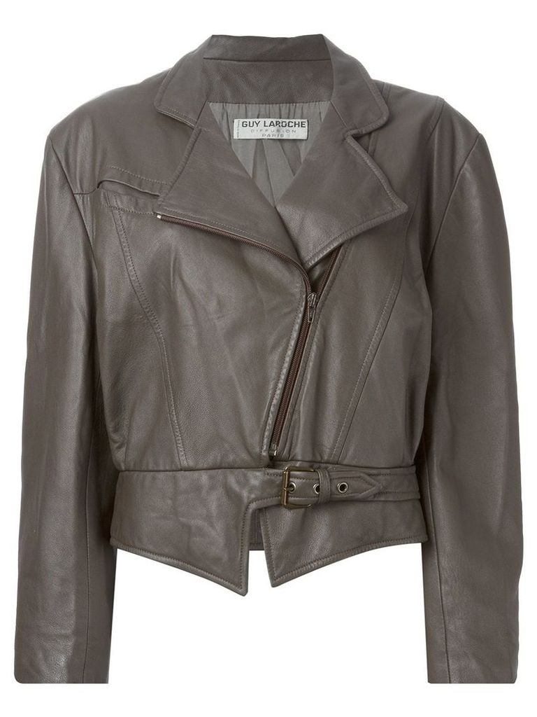 Guy Laroche Vintage biker jacket - Brown