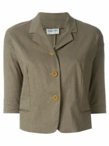 Romeo Gigli Pre-Owned three-quarter sleeve jacket - Brown