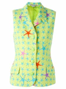 Versace Pre-Owned starfish print vest - Green