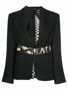 COMME DES GARÇONS PRE-OWNED camouflage appliquée blazer - Black