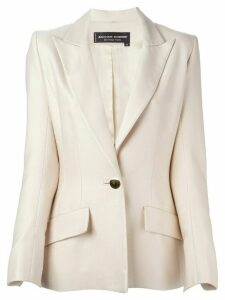 Jean Louis Scherrer Pre-Owned classic single button blazer - Neutrals