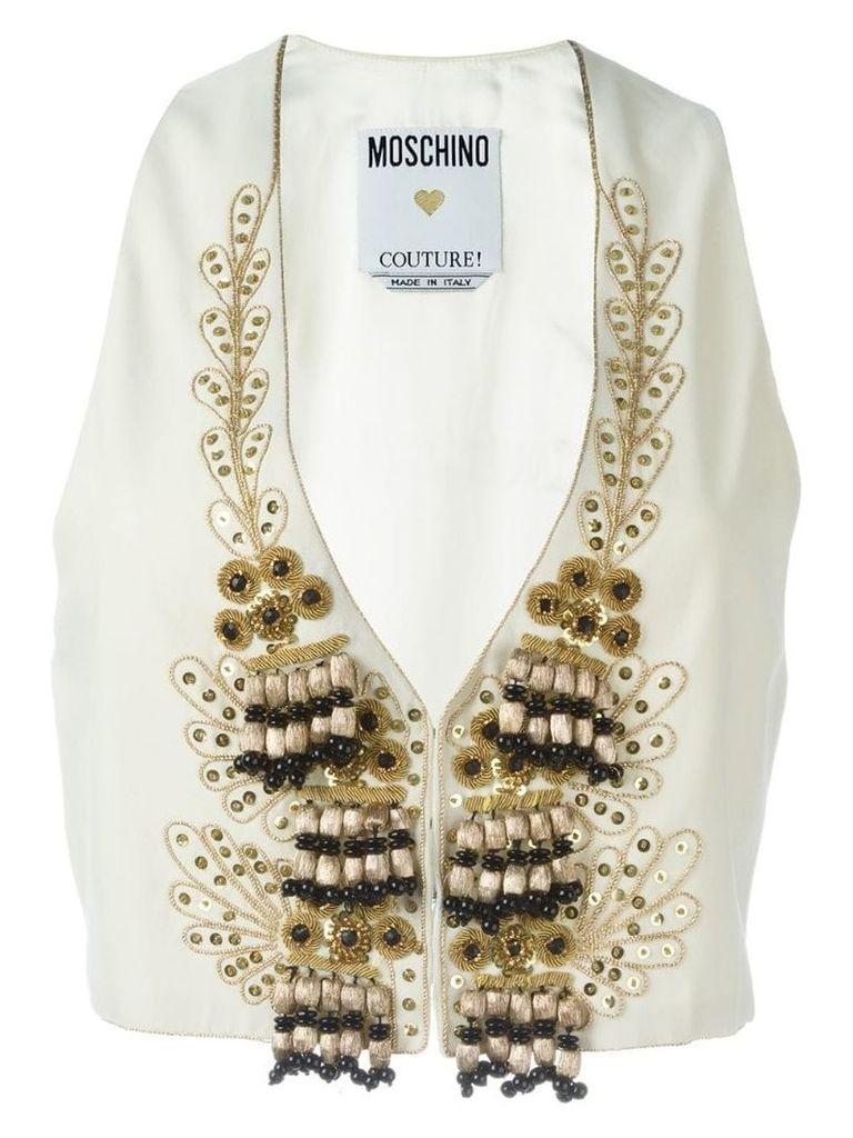 Moschino Vintage embellished waistcoat - White