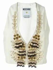 Moschino Pre-Owned embellished waistcoat - White