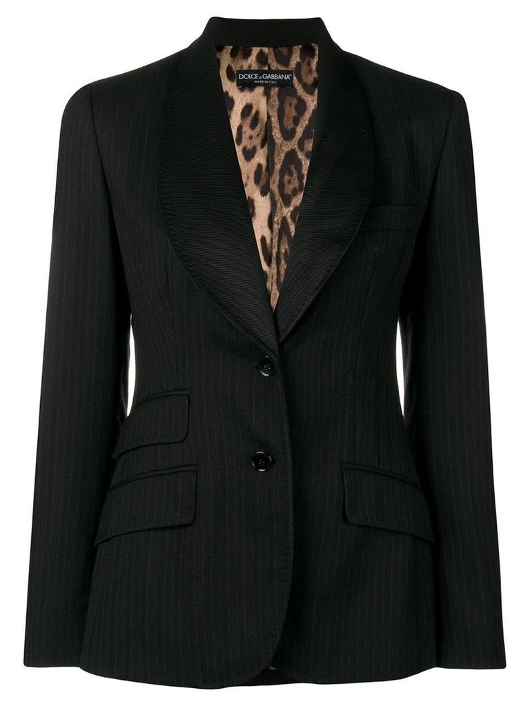 Dolce & Gabbana Vintage pinstripe fitted blazer - Black
