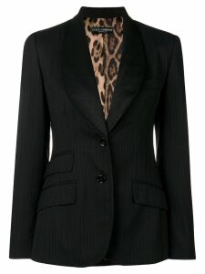 Dolce & Gabbana Pre-Owned pinstripe fitted blazer - Black