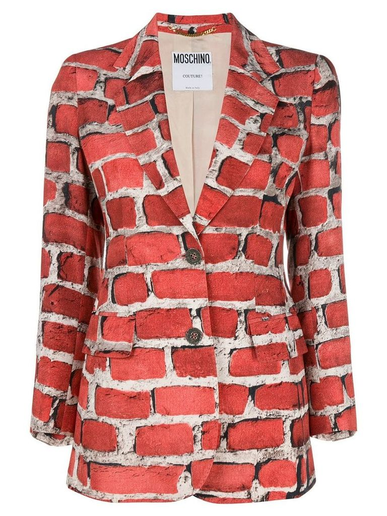 Moschino Vintage 1997 Brick Wall blazer - Red