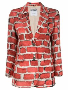 MOSCHINO PRE-OWNED 1997 Brick Wall blazer - Red