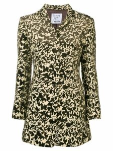 Moschino Pre-Owned burnout velvet jacket - Brown