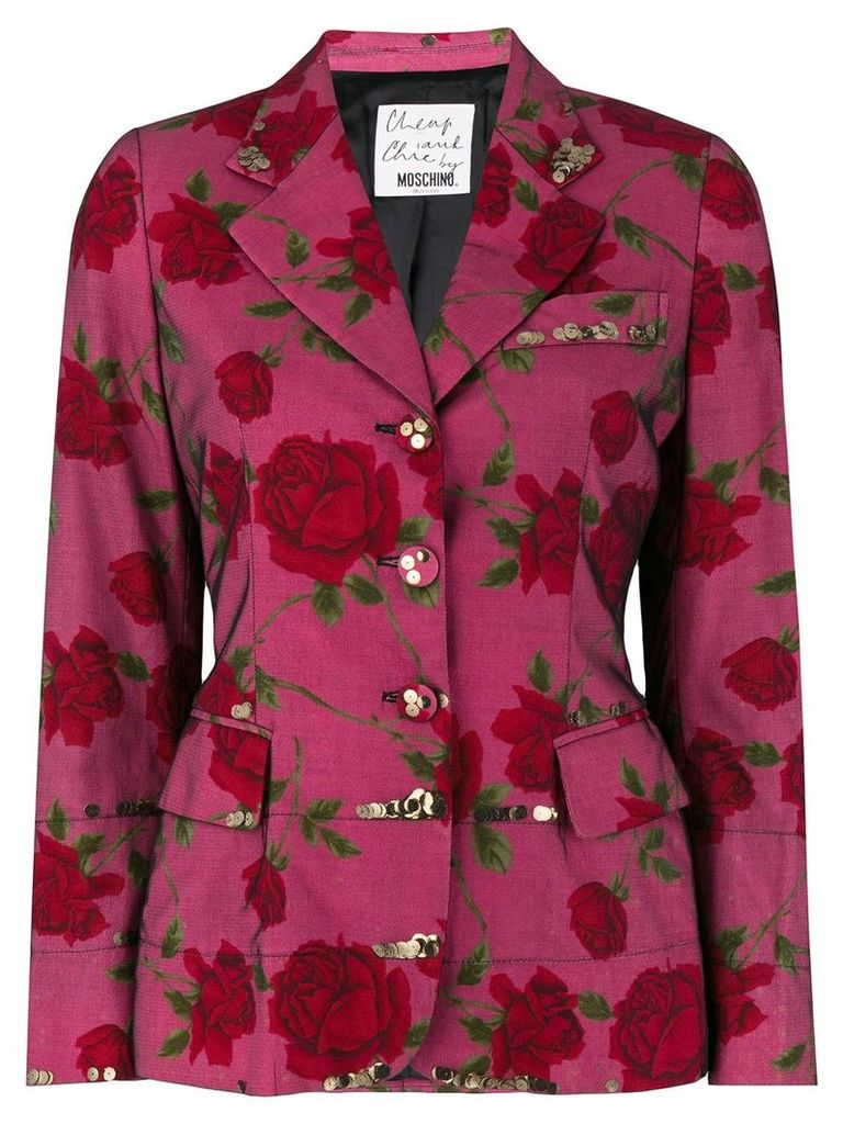 Moschino Vintage floral fitted blazer - Multicolour
