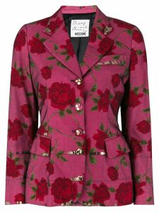 Moschino Pre-Owned floral fitted blazer - Multicolour