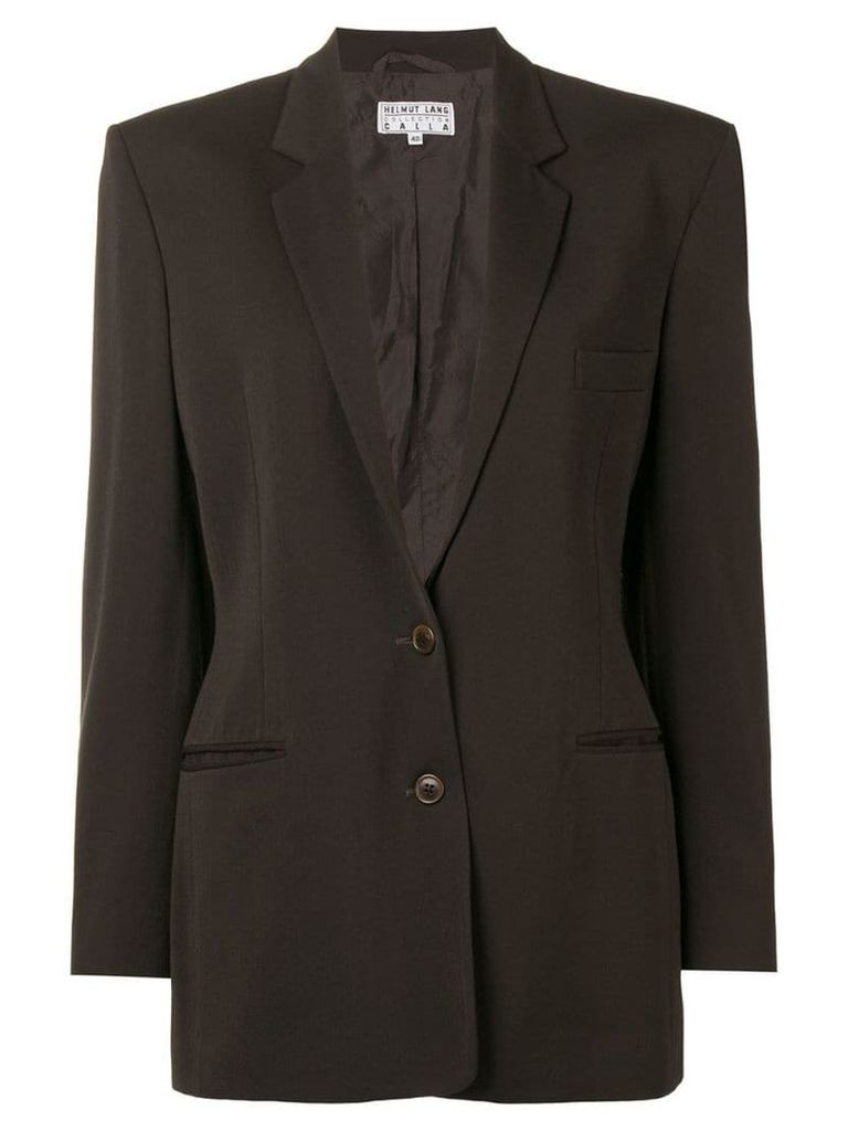 Helmut Lang Pre-Owned single breasted blazer - Brown
