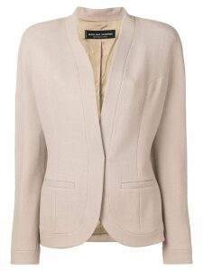 Jean Louis Scherrer Pre-Owned collarless blazer - NEUTRALS