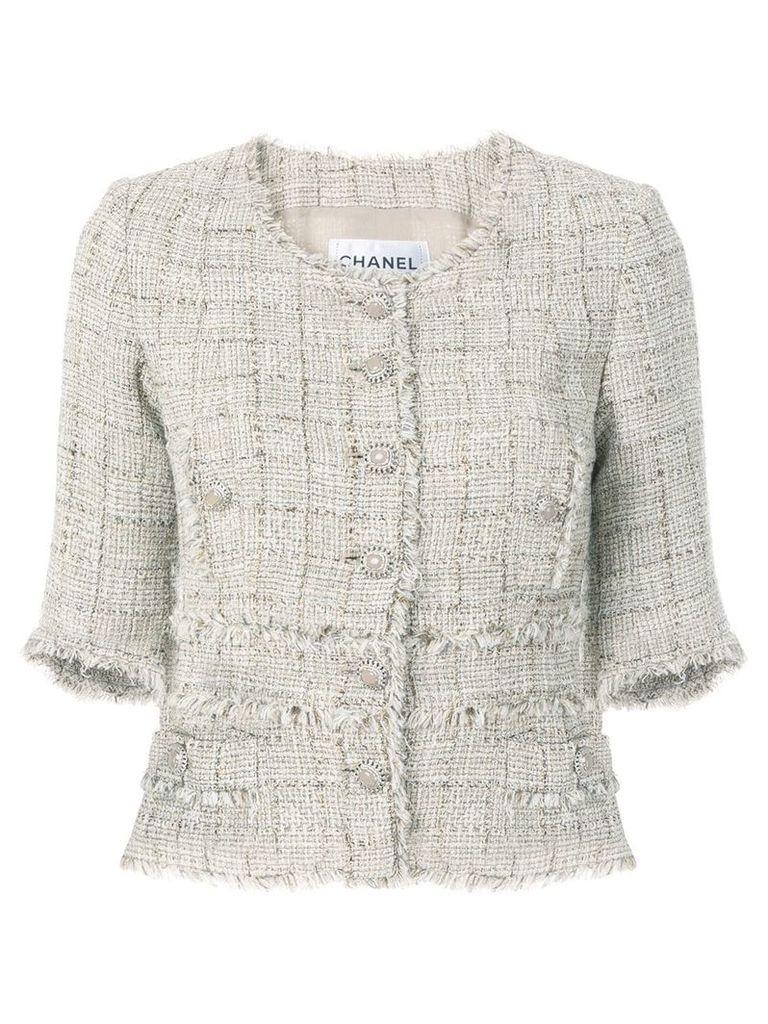 Chanel Vintage shortsleeved tweed jacket - Neutrals