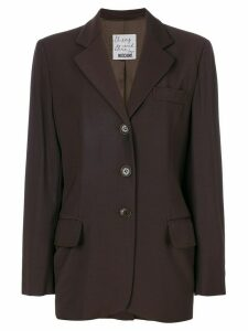 Moschino Pre-Owned classic blazer - Brown