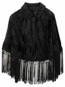A.N.G.E.L.O. Vintage Cult fringed cape jacket - Black