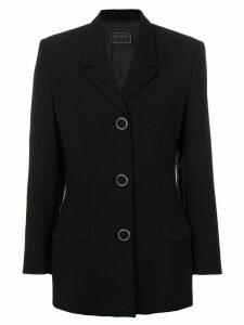 Versace Pre-Owned single breasted jacket - Black