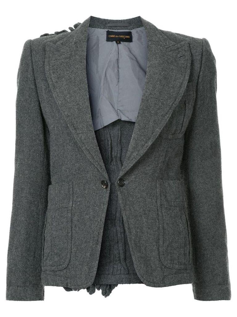 Comme Des Garçons Vintage ruffle back detail blazer - Grey