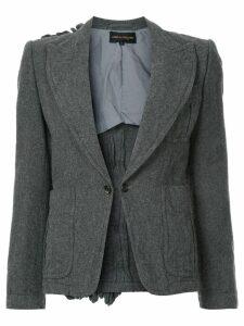 Comme Des Garçons Pre-Owned ruffle back detail blazer - Grey