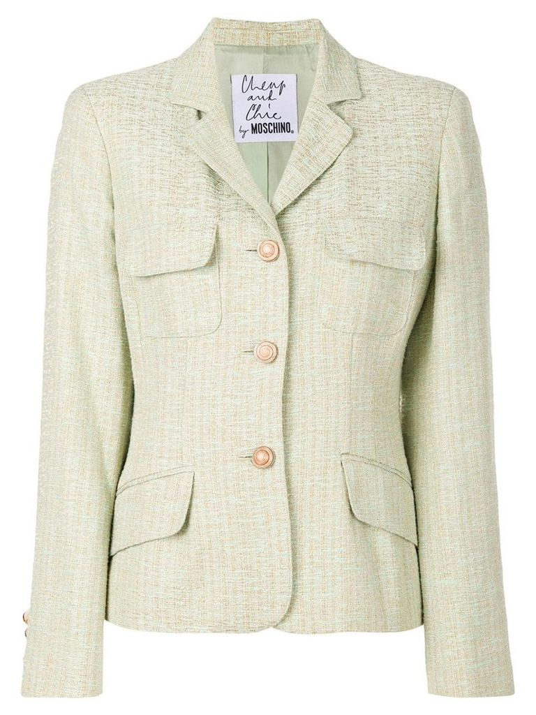 Moschino Vintage military single breasted blazer - Green