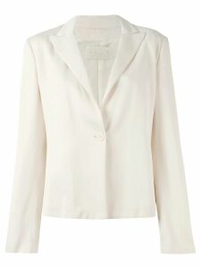 Krizia Pre-Owned one button blazer - Pink