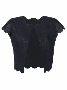 Comme Des Garçons Pre-Owned laser cut crocodile embossed waistcoat -