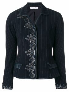 Christian Dior Pre-Owned embroidered jacket - Blue