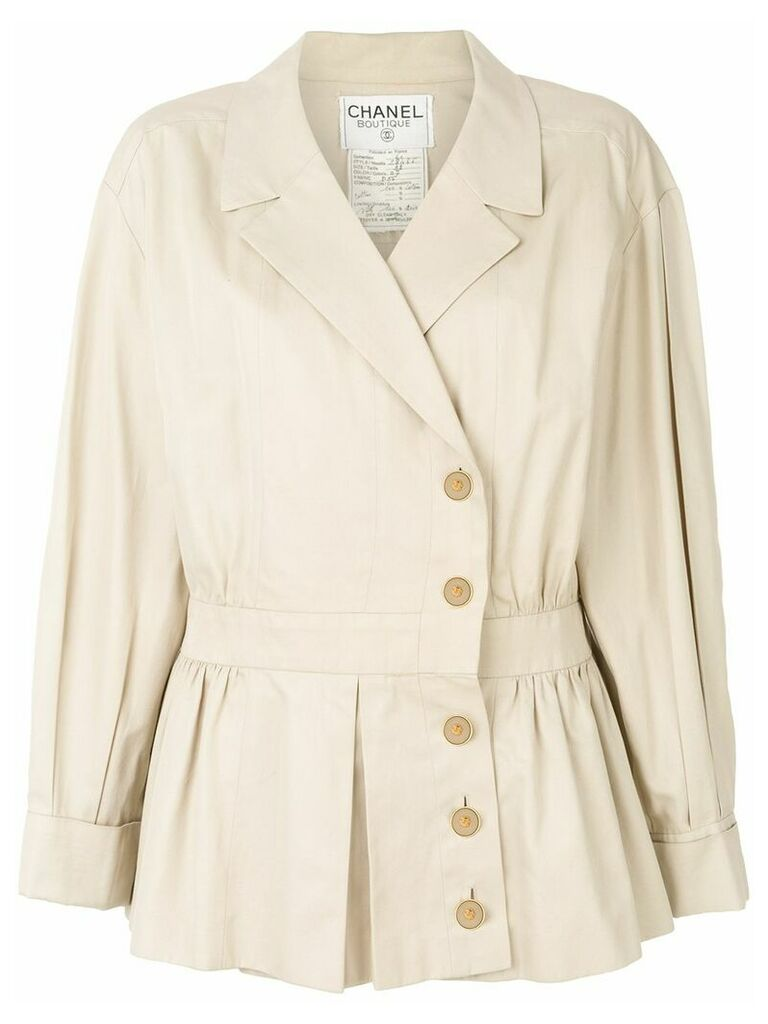 Chanel Vintage 1990 cropped trench coat - Neutrals