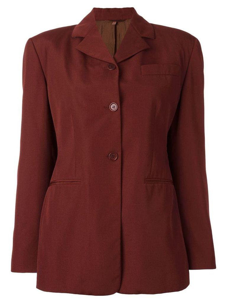 Romeo Gigli Pre-Owned classic blazer - Red