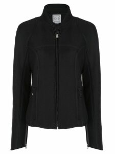 Chanel Pre-Owned branded arms zipped jacket - Black
