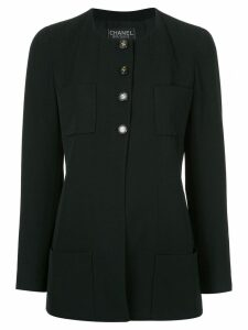 Chanel Pre-Owned collarless boxy jacket - Black