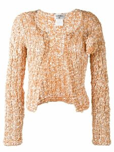 Chanel Pre-Owned woven cropped jacket - Neutrals