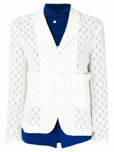 Comme Des Garçons Pre-Owned contrast layer blazer - Blue