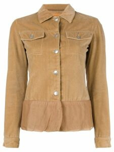 Helmut Lang Pre-Owned velvet sheer trim jacket - Brown