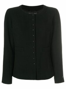 Chanel Pre-Owned boxy buttoned cardigan - Black