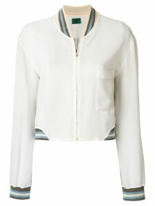 Jean Paul Gaultier Pre-Owned sheer bomber jacket - White