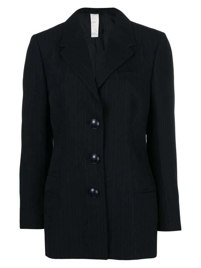 Versace Pre-Owned pinstriped blazer - Black