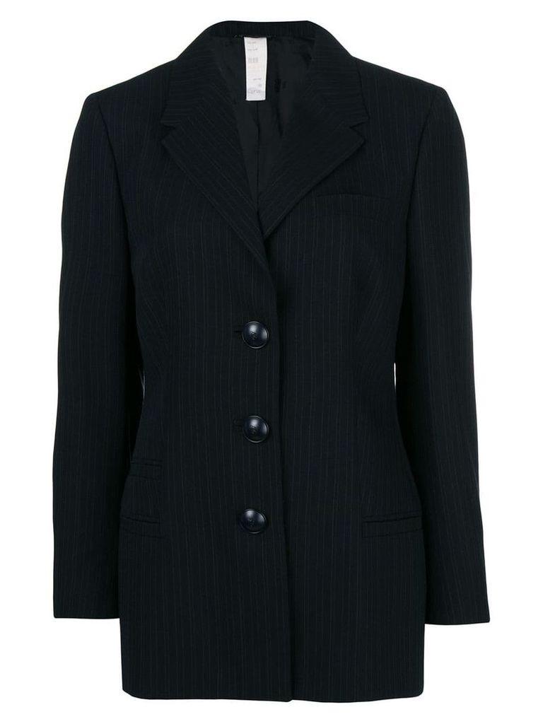 Versace Vintage pinstriped blazer - Black