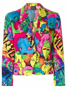 Versace Pre-Owned Pop Face blazer - Multicolour