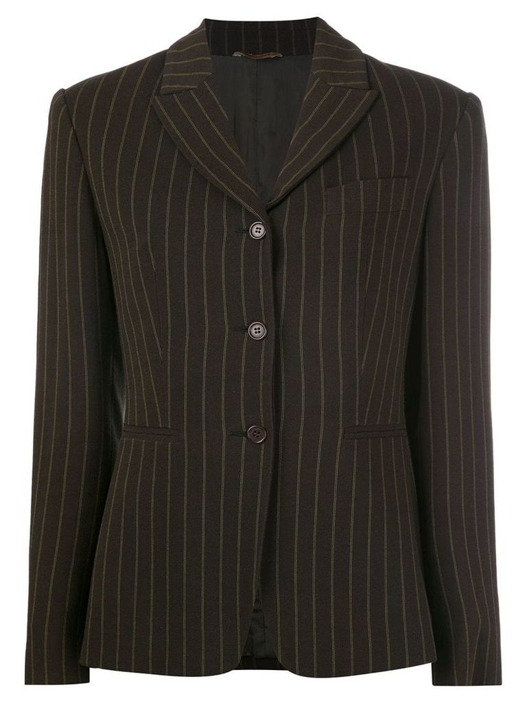 Romeo Gigli Vintage pinstriped blazer - Brown