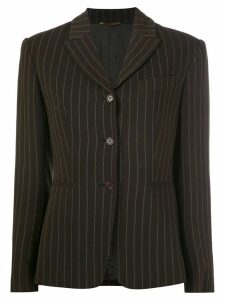 Romeo Gigli Pre-Owned pinstriped blazer - Brown