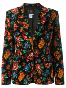 Kenzo Pre-Owned 1980's floral print blazer - Black