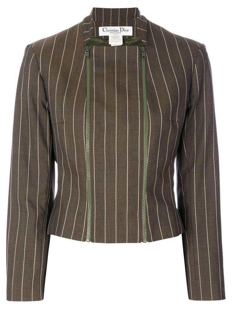 Christian Dior Vintage pinstriped jacket - Brown
