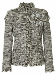 Chanel Pre-Owned CC button tweed jacket - Black