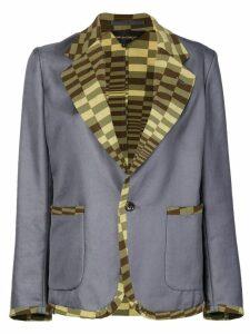 Comme Des Garçons Pre-Owned geometric trim blazer - Grey